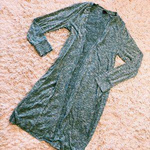 Mossimo Sweaters - Mossimo Long Gray Open Cardigan With Side Slits